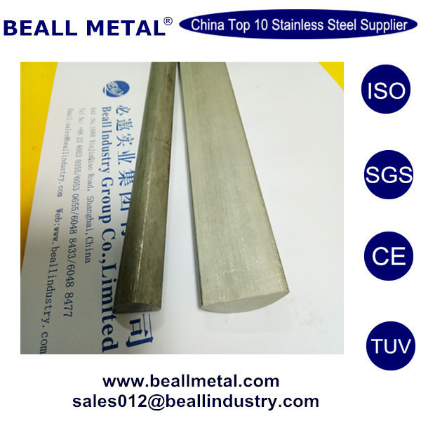 Top quality ASTM 276 430 430F 304L stainless steel half round bar for sale