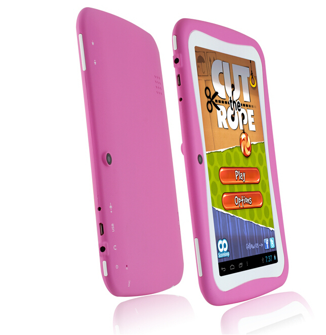 School education tablet pcs cheap 7inch rubber kids tablet