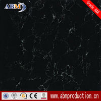 Grade AAA 600x600 LJ6810 glossy polished porcelain star black galaxy flooring tile with nano