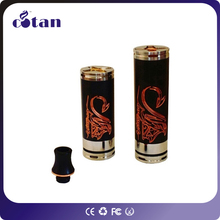 Good quality 18350 black stingray mod perfect fit 18350/18500/18650 battery tube stingray mechanical mod