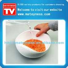 multi-function bowl with intergrated colander