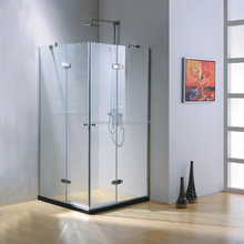 Neo Angle Hinge Frameless Small Square Shape Tempered Glass Shower Box