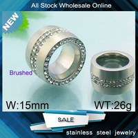 fancy good quality stainless steel diamond men silver finger rings