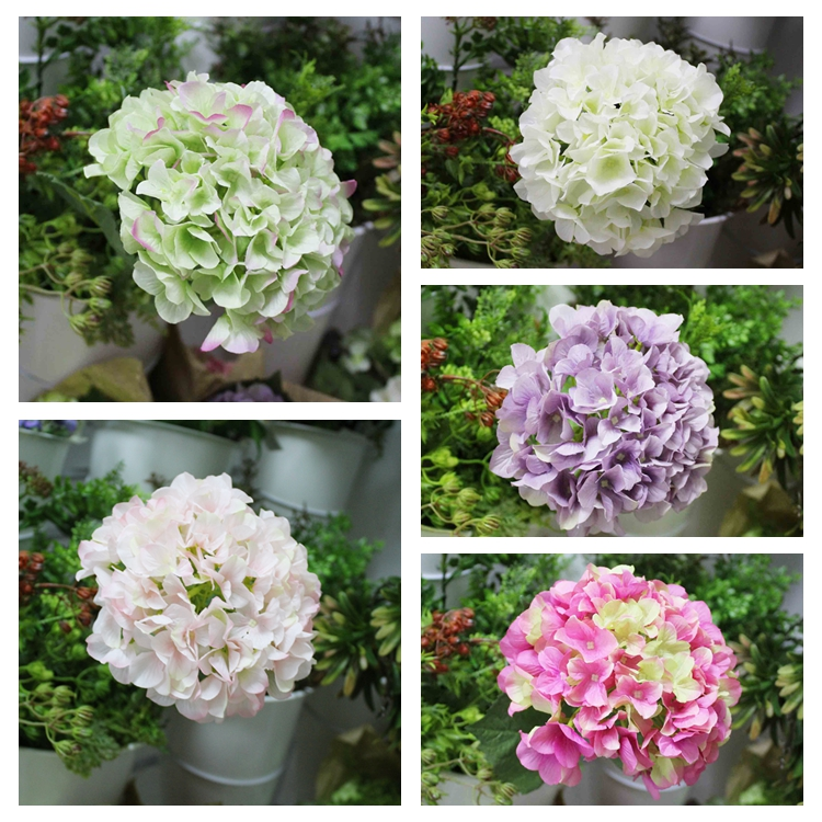 2017 Home Decoration Artificial Single Stem Flowers Silk Vision Flowers Wholesale Hydrangea