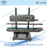 XK-1100V Iron Body Automatic Continuous Band Machine For Plastic Potato Chips Nylon Bag Sealing