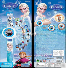 TF-GO2151016015 Disney FROZEN 20 figure 3 d projection watch children's cartoon figure 24 Children's gift