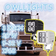 Characterized by hight quality durable !! auto parts 3inch LED Work light 20W LED Driving Light for 4X4 offroad for any tractor