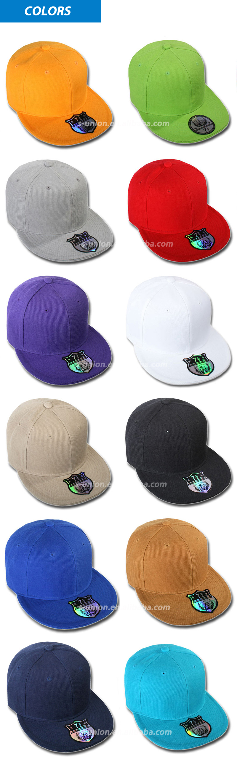 High quality snapback caps custom hip hop flat bill mens snapback hats