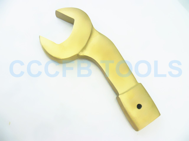 Nonsparking Aluminum Bronze high quality gold CU alloy Striking Open End Bent Wrench,Explosion-proof Spanner