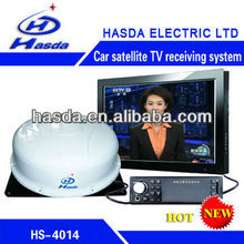 Signal strong Satellite TV receiver for car, boat, is suing the activity in China