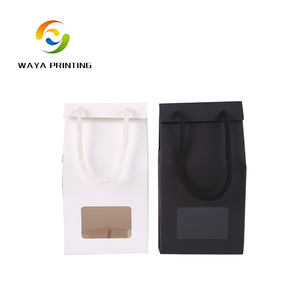 Accept custom Recycled Kraft sugar packaging paper bag with window