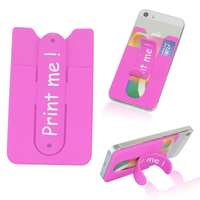 portable smart credit card phone wallet with mobile stand for iphone
