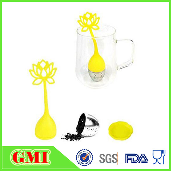 Tea Infuser Set,best for Flower Tea Filter ,Includes Silicone Flower Infuser with Stainless Steel Strainer