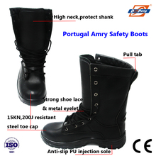 CE standard high neck lace up military boot for Portugal Army