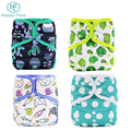 Happy flute Hot baby products bamboo cotton reusable baby cloth diaper