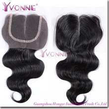Hot selling Cheap virgin Middle Partting Brazilian hair closures