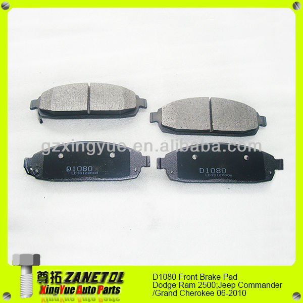 D1080 Front Brake Pads for Dodge Ram 2500;Jeep Commander/Grand Cherokee 06-2010