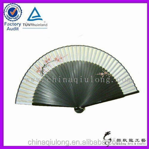 Silk fabric dancing fan , gifts & crafts hand paper fan