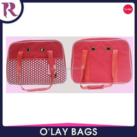 polyester open top dog carrier tote bag outside