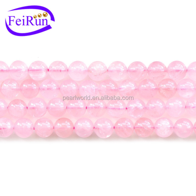 natural pink color wholesale price crystal beads decoration, crystal beads strands, types of crystal beads