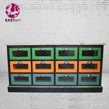 European style furniture Antique furniture cabinet 12 drawer
