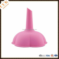 100% Food Grade Kitchen Accessory Oil and Wine Leak Hopper Silicone Funnel