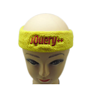Bulk Cotton Hairband Knitted Sport Headband  with Embroidery Logo