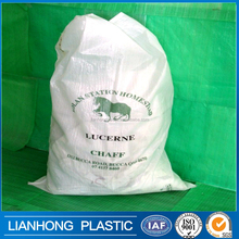 UV resistance pp geotextile sand bag, 20kg 20kg pp bags with printing, virgin material polypropylene sandbags with drawstring