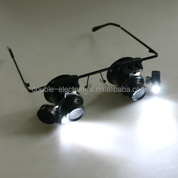 20x Magnifier Eye Glasses Loupe Lens Jeweler Watch Repair LED Light
