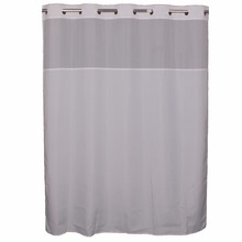 100%polyester hotel double swag shower curtain