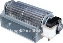 30mm metal electric AC cross flow fan with powerful shaded pole motor for air curtain washer warmer with high air flow