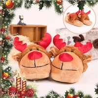 Wholesale Soft Christmas Animal soft lady home rubber plush slipper