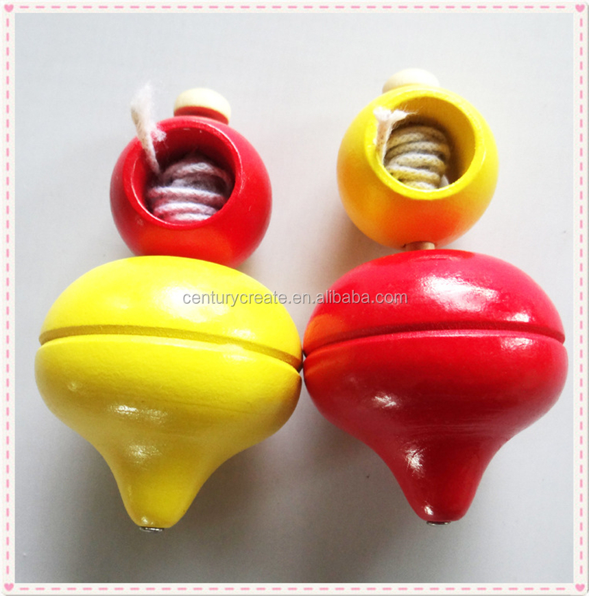 Sale wooden spinning top beyblade spin top toy supplier