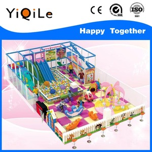 modren discovery kids construction fort CE used indoor playground equipment with kids soft play balls for sale