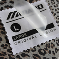 Clear Film Heat Press Clothes Iron On Logo Label Sticker