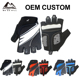 OEM Custom Breathable Half Finger Biking Road Racing Bicycle Outdoor Sports Cycling Gloves
