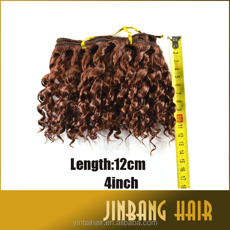 2016 Aliexpress Angels Rumba 2pcs Weaving Synthetic Hair Made Hair Extension for Black Women Length 8""