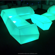 Assemble led furniture sectional sofas lighting long bar table chair
