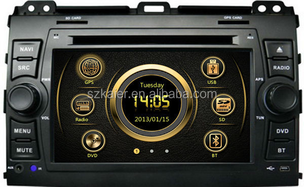 7 inch touch screen dual zone wince car MP4 player for Prado 120 with GPS/Bluetooth/Radio/SWC/Virtual 6CD/3G /ATV/iPod