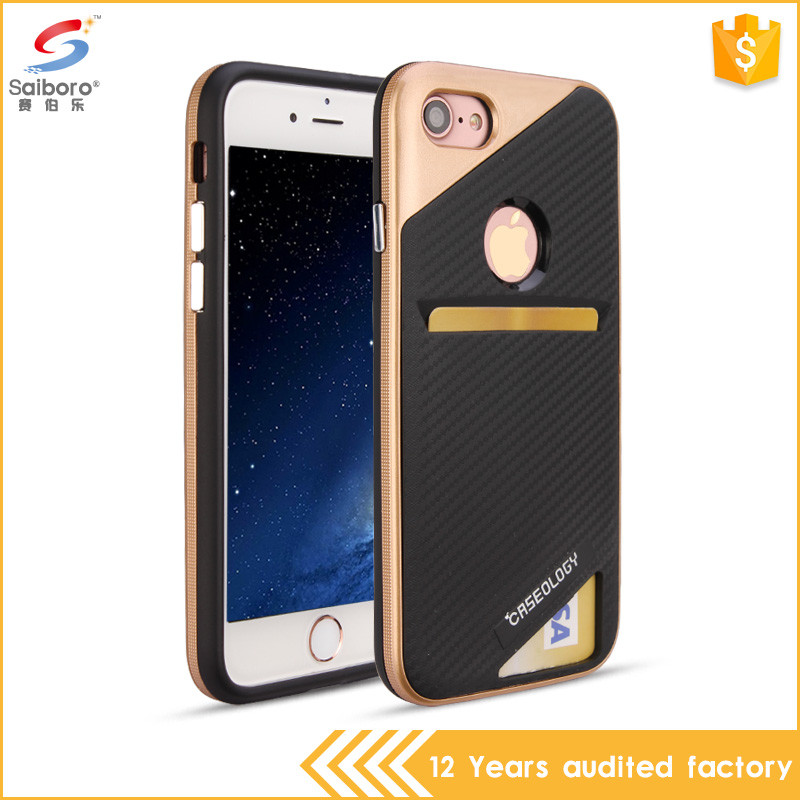 Top selling products in alibaba 2 in 1 for iphone 7 cover credit card