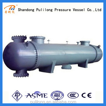 Shell and tube heat exchanger/condenser/heat exchanger condenser and evaporator