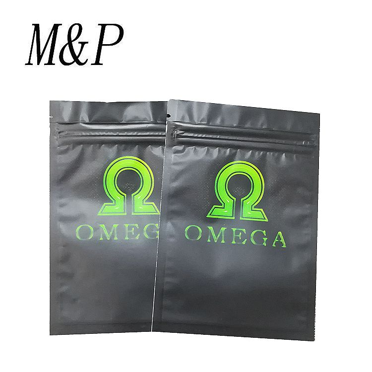 2017 hot-selling amber leaf tobacco OMEGA bag /Small plastic ziplock bag