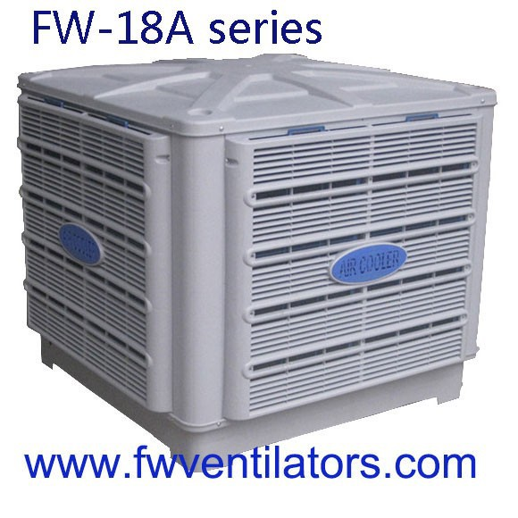 FW indoor evaporative air cooler with big air flow and temperature control industrial air cooler