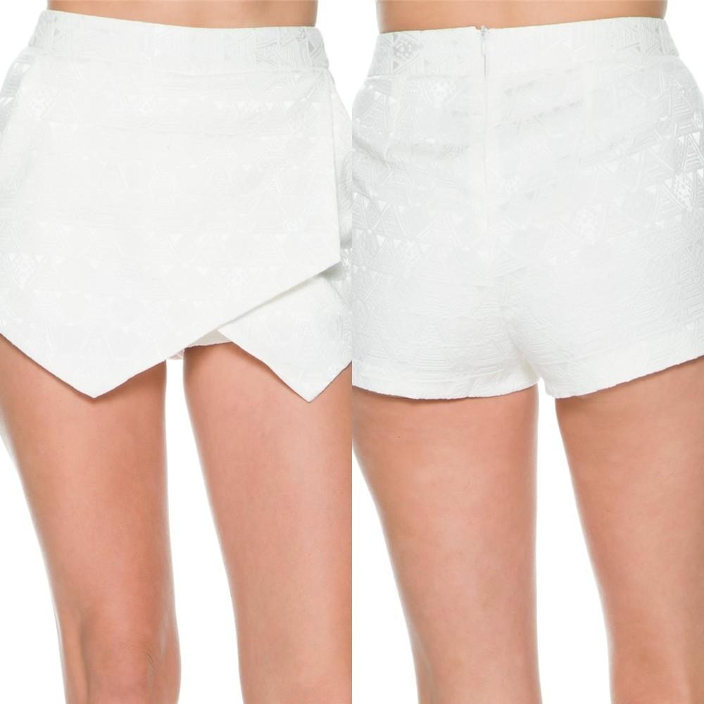 New Design Short And Skirt Combo Ladies Fashion White Shorts - Buy ...