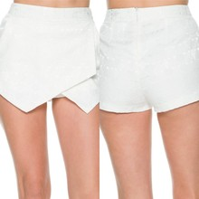 new design short and skirt combo ladies fashion white shorts