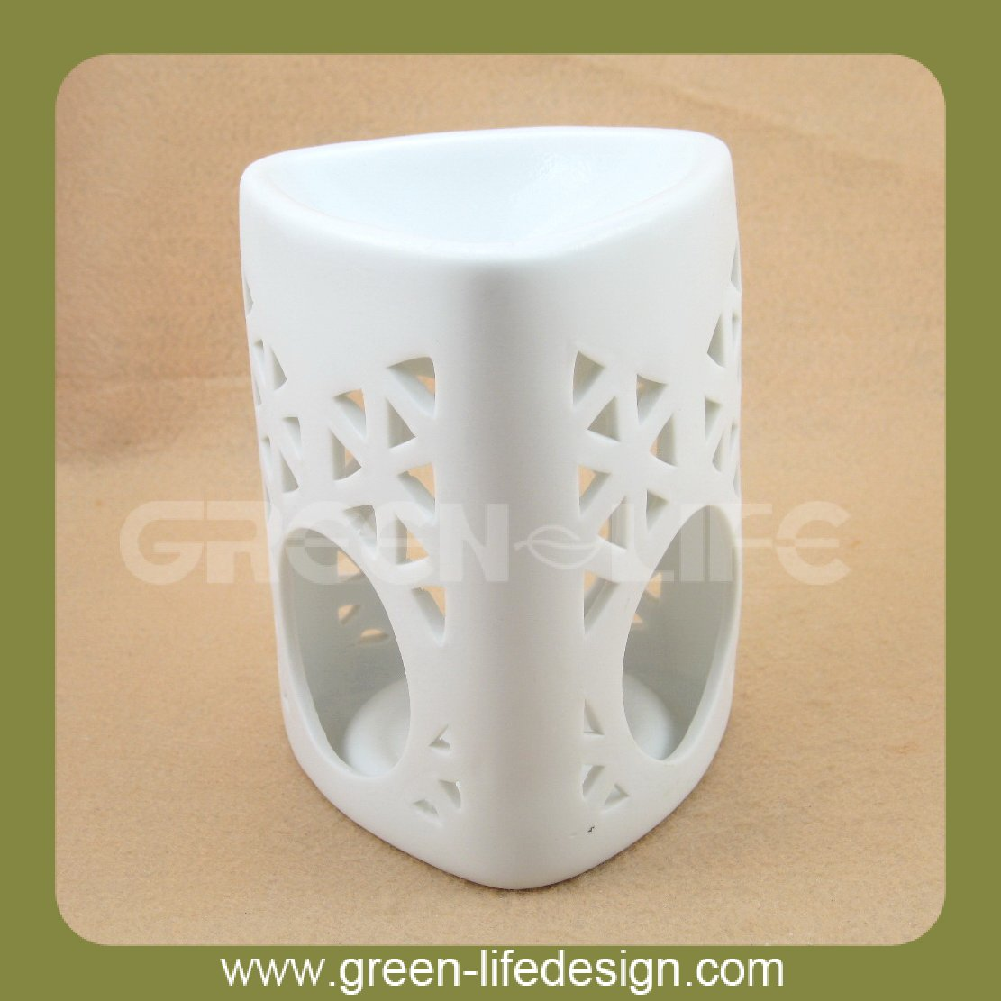 White ceramic liquid incense burner for sales