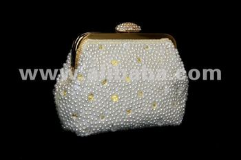 Pearl Framed Clutch
