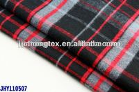 100% cotton flannel shirting fabric