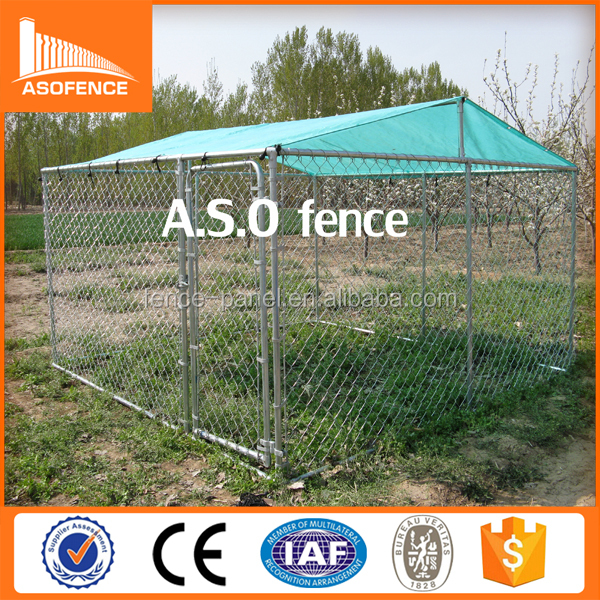 Cheap 10x10x6 foot classic galvanized dog kennel outdoor dog run