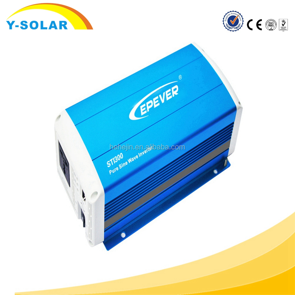 EPEVER 300W Off Grid Tie Inverter Pure Sine Wave 12V to AC 220V Energy Saving High Frequency Inverters for Solar Panel System